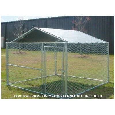 Dog House Cover 10 x 10 Kennel Canopy Outdoor Roof Cage Pen Crate Large Top