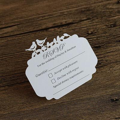 50-Personalised Love Birds Wedding Invitation RSVP cards,Wishing well (Love Birds Wedding Invitation)