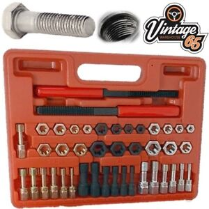 Vintage Warehouse 65 42 Piece Metric & Unf Thread Repair Thread Chaser Kit