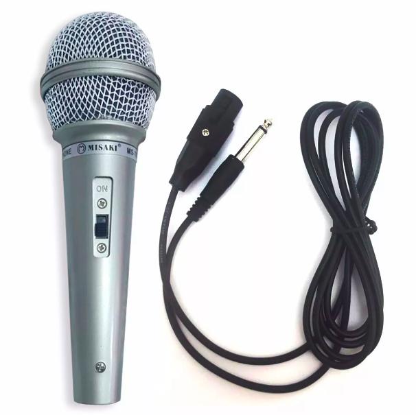Microfono Dinamico per Musica VOCE Karaoke Canto con CAVO Filo XLR 2,5mt