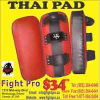 THAI PADS, VERY STRONG AND GREAT QUALITY, WITH BUCKLE OR VALCRO,