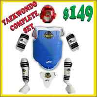 TAEKWONDO SPARRING SET(WTF) SAVE UPTO 70% OFF ON TAEKWONDO PRODS