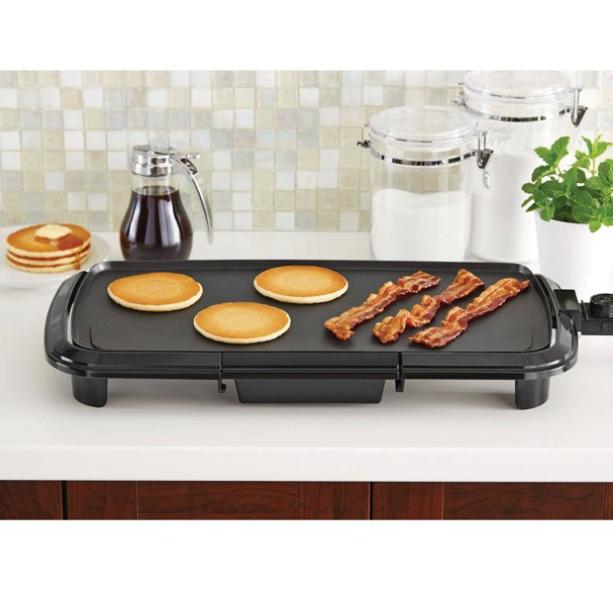 Electric Griddle BBQ Presto Countertop Indoor Smokeless Cook