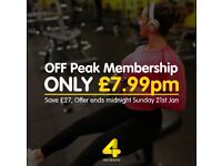 Xercise4less Gym Membership - From £7.99 Per Month - £16 Admin Fee - Ends 21st January!