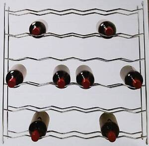 Chrome 36 Bottle Wine Rack Hafele Install into Cabinets RRP$230 Officer Cardinia Area Preview