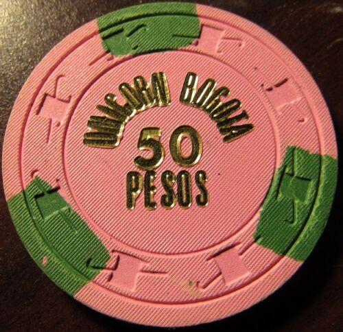 Vintage Unicorn Casino Bogota, Colombia 50 Pesos Poker Chip - Columbia