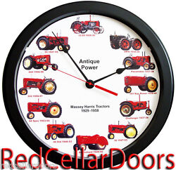 New MASSEY HARRIS Wheel Dial Wall Clock MASSIVE 14 Vintage 1929-1958 Tractor