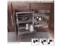 Wari Corner K900 L Cabinet - Storage shelf for kitchen cabinet with folding door for tight corners
