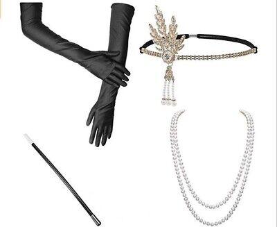 4pcs 1920 Damen Kostüm Gatsby Charleston Flapper Zigarette - Zigarette Kostüme