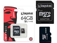 Original Kingston microSD SDHC Memory Card 64 GB