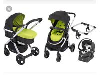 Chicco Urban Travel System. Few scrapes but in great condition. Only used until my son was 6 months.