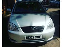 Toyota Corolla 12month mot 12month tax lady owner since 2002
