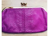 TED BAKER pink and gold clutch bag
