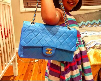 100% Authentic Chanel Vintage for Sale in Aqua Blue Blacktown Blacktown Area Preview