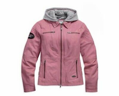 Harley-Davidson® Women's Pink Label 3-in-1 Leather Jacket, Pink/Gray. 98090-15VW