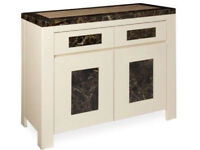 Minella Solid Marble Topped 2 Door, 2 Drawer Sideboard.