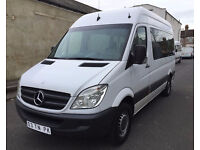 LHD LEFT HAND DRIVE MERCEDES SPRINTER 311 CDI 2007 WHITE 9 SEATER CLEAN MINIBUS