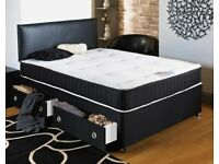 **FREE HEADBOARD**BRAND NEW MEMORY SPRUNG DIVAN BED AND MATTRESS - AVAILABLE IN ALL SIZES