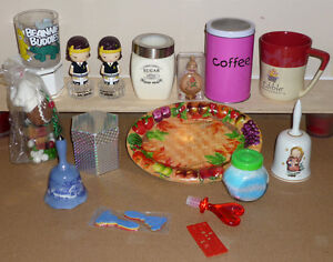 Sugar Jar; CoffeeCan; Dishes; Bells; Cups .. lots more Cambridge Kitchener Area image 1