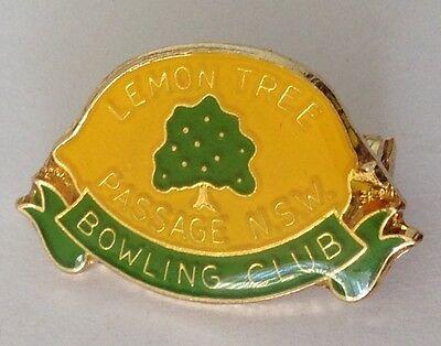 Lemon Tree Passage Nsw Bowling Club Badge Pin Vintage Lawn Bowls  L24