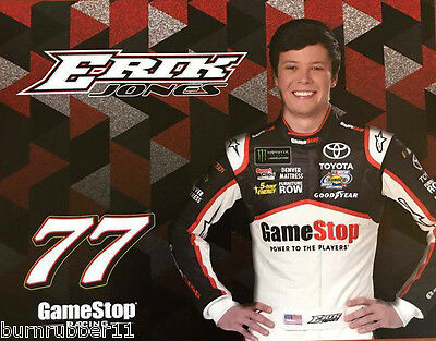 2017 Erik Jones  Gamestop Furniture Row   77 Monster Energy Nascar Cup Postcard