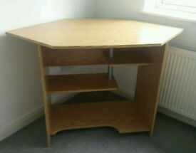 Wooden corner office desk