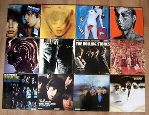Nice Selection of Rolling Stones Vinyl LP Records