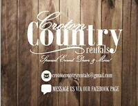 Rustic Event Decor for Rent!