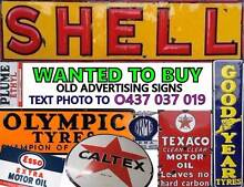 WANTED Service Station Garage Related SIGNS & items Newcastle Newcastle Area Preview