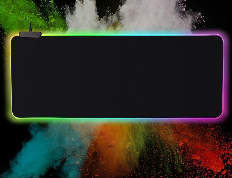 LED Extra Large Soft Gaming Mouse Pad RGB Oversized Glowing