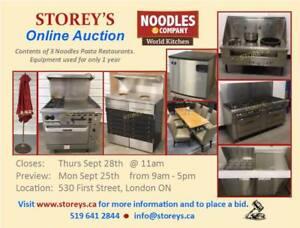 NOODLES Restaurant Equipment Auction