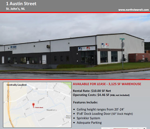 3,125 Sq. Ft. Warehouse available for immediate Occupancy St. John's Newfoundland image 2