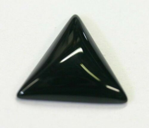 4pcs 16mm Natural Black Onyx Calibrated Triangle Cabochon Gemstones Gems Jewelry