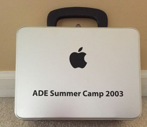APPLE Computer Silver Metal Lunchbox ADE Summer Camp 2003