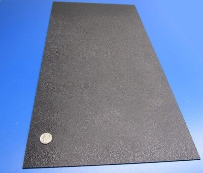Abs Sheet Haircell Textured 1 Side Black .094 332 X 12 X 24 4 Units