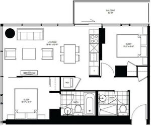 150 Redpath 681sf 2 Bedroom + 1 parking + 1 locker to Assign