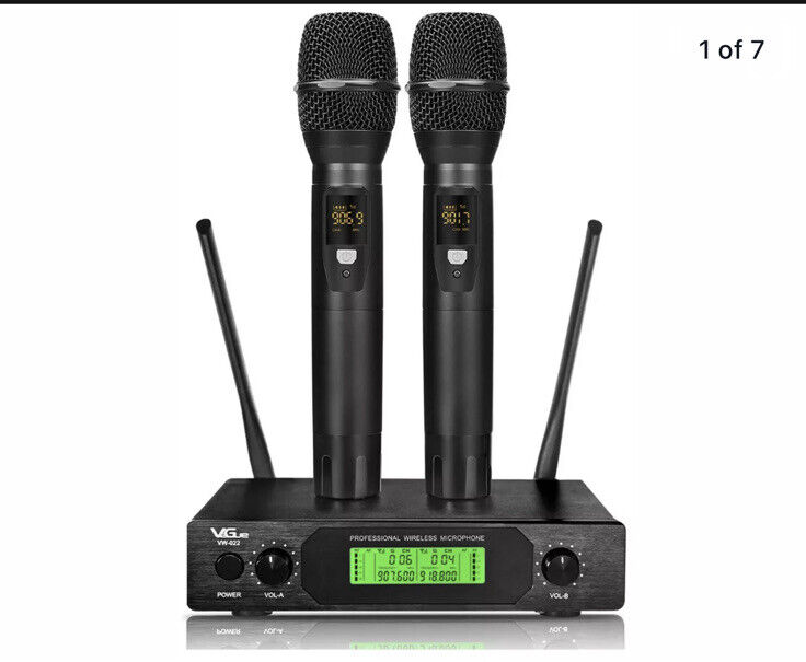 VeGue UHF Wireless Microphone Dual Set VW-022