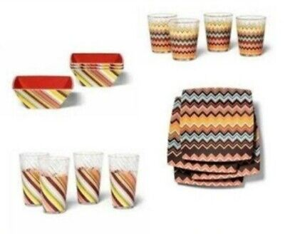 16 pc set Missoni for Target 4 Plates/Bowls/Low/Highball Tumblers Sold Out Low Target Sets
