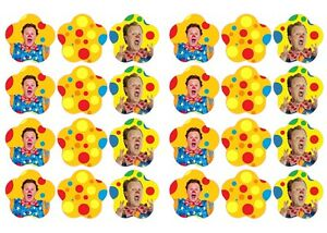 ★ MR TUMBLE # ★ Edible cake party toppers x 24 ★­­­­­­­­­­­­­