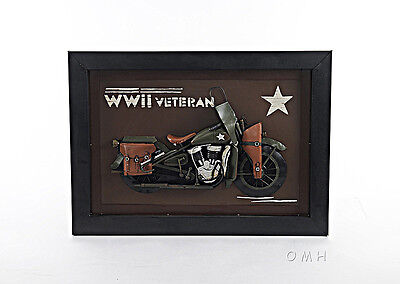 Harley Davidson Motorcycle WWII Army 3D Metal Model Painting 28