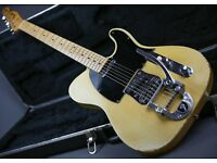 1968 USA FENDER TELECASTER BLONDE FACTORY BIGSBY! & WITH FENDER CASE