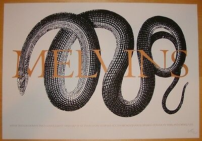 2004 The Melvins - Birmingham Silkscreen Concert Poster s/n by Ferg