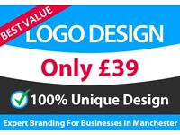 Professional Logo Design Only £39 | Expert Logo & Web Design for Businesses in Manchester