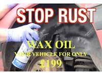 Protect Your Van or Car and Have it **WAX OILED** at The Yard