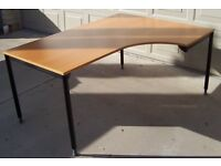 Ikea Effektiv Desks: 120wide x80deep & L-shaped 160widex80deep(on left)120 deep(on right)