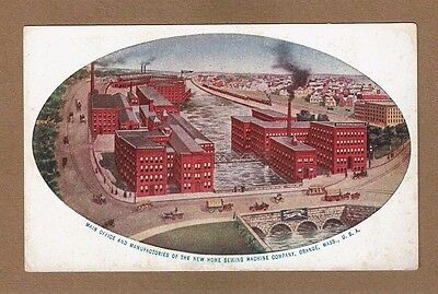 For sale Orange,MA Massachusetts New Home Sewing Machine Co.Main Office and Factories