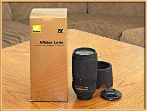 NIKON AFS-VR 70-300 F4-5.6 TELEZOOM LENS MINT CONDITION