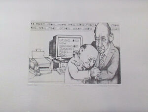 Day Traders Limited Edition Etching by the Great Charles Bragg!