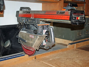"Sears 10"" Radial Arm Saw - Front Controls - 12 Amp!!"