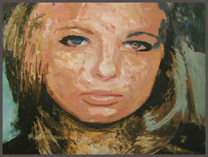 Blonde Woman with Pout, Original Oil Painting, Impressionist